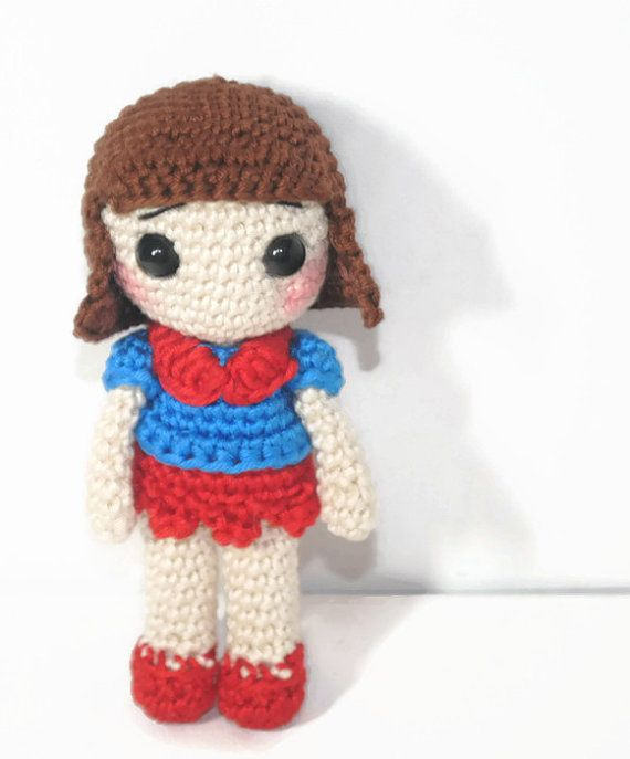 Sweet Girl Crochet Mini Doll by EmmaIrlamCrafts on Etsy