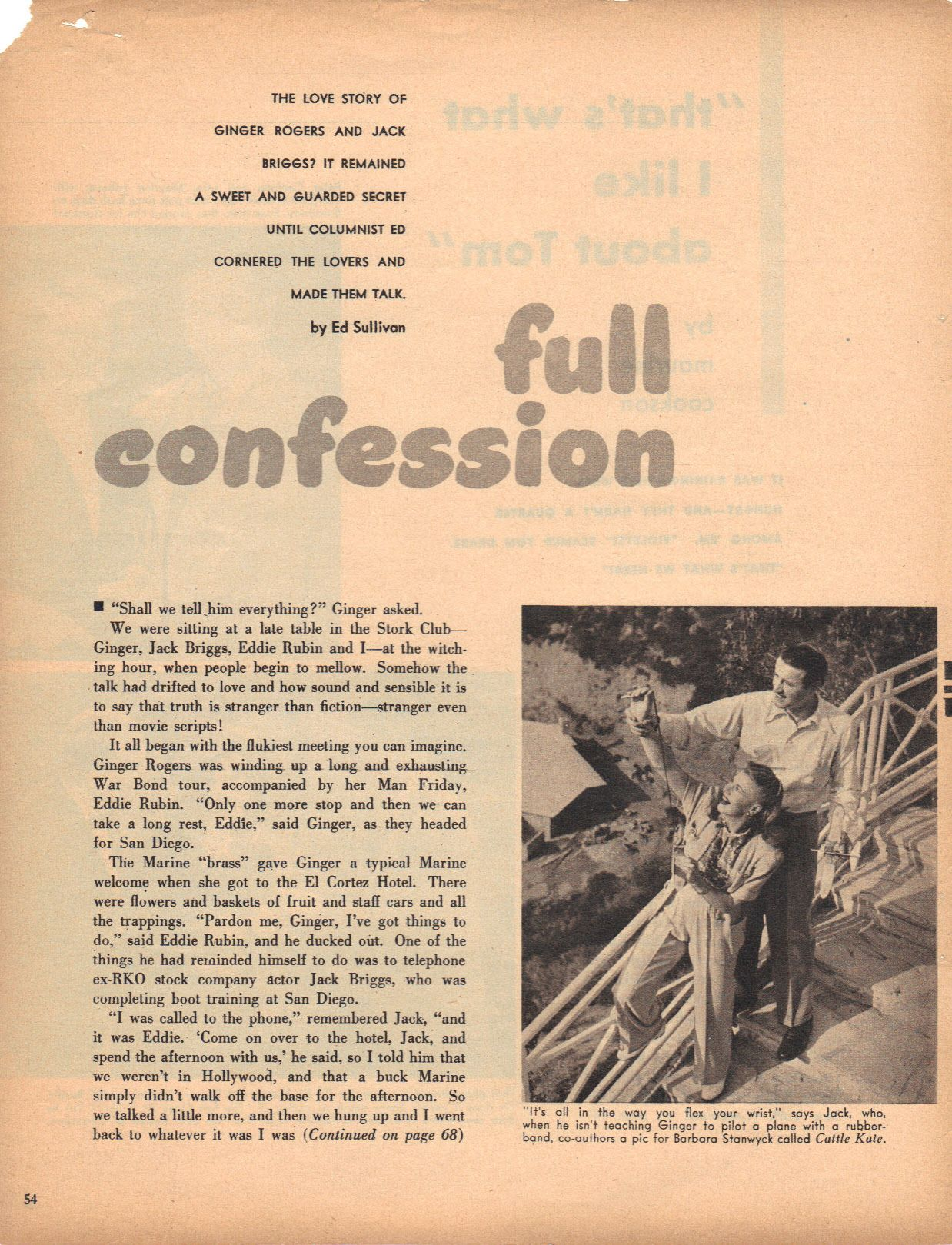 Ginger Rogers and Jack Briggs Full Confession page 1