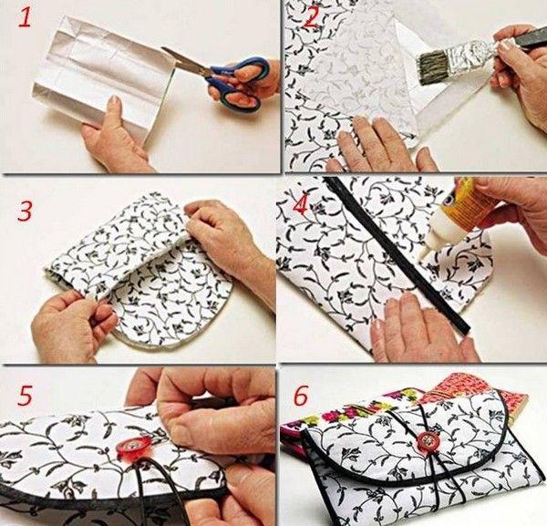 passo a passo da carteira feita com caixa de leite