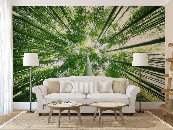 Bamboo Treetop Mural Self Adhesive Peel And Stick 3d Photo Wall Mural Sticker Wall Murals Beach Wall Murals Mural