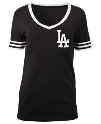 5th & Ocean Women's Los Angeles Dodgers Retro V-Neck T-Shirt