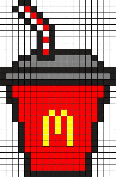 By Bichoco Dessin Pixel Pixel Art Boisson Et Pixel Art