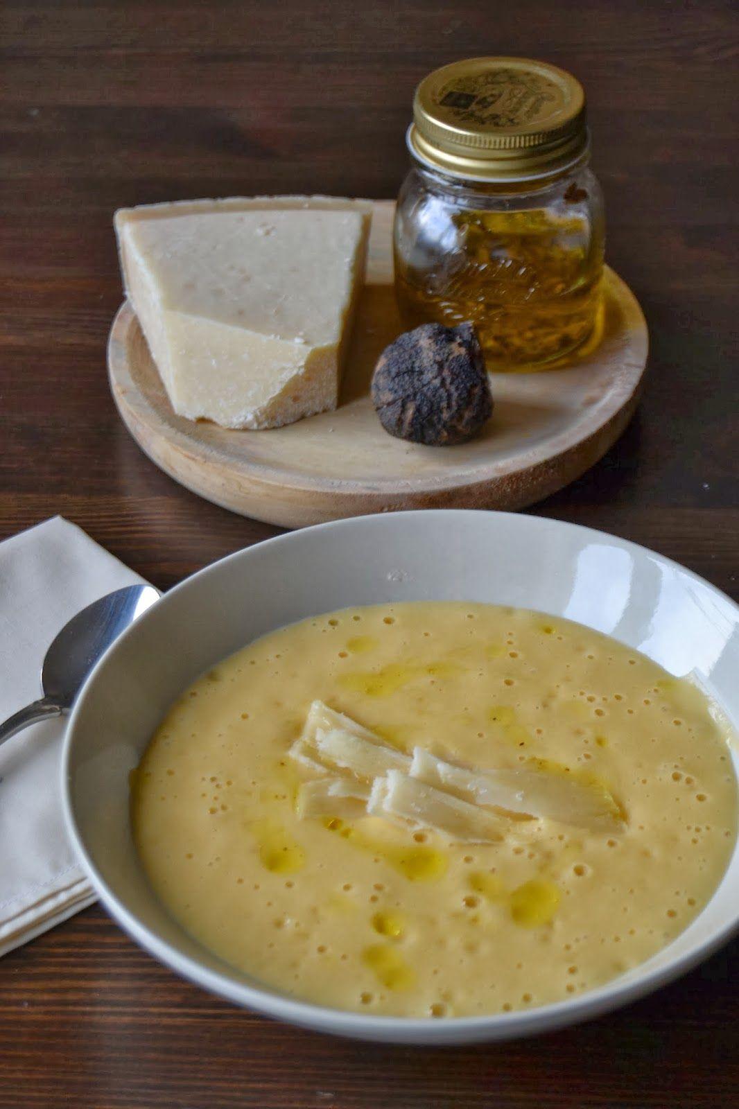 Crema De Calabaza Con Parmesano Y Aceite De Trufa Crema De Calabaza Aceite De Trufa Recetas De Comida