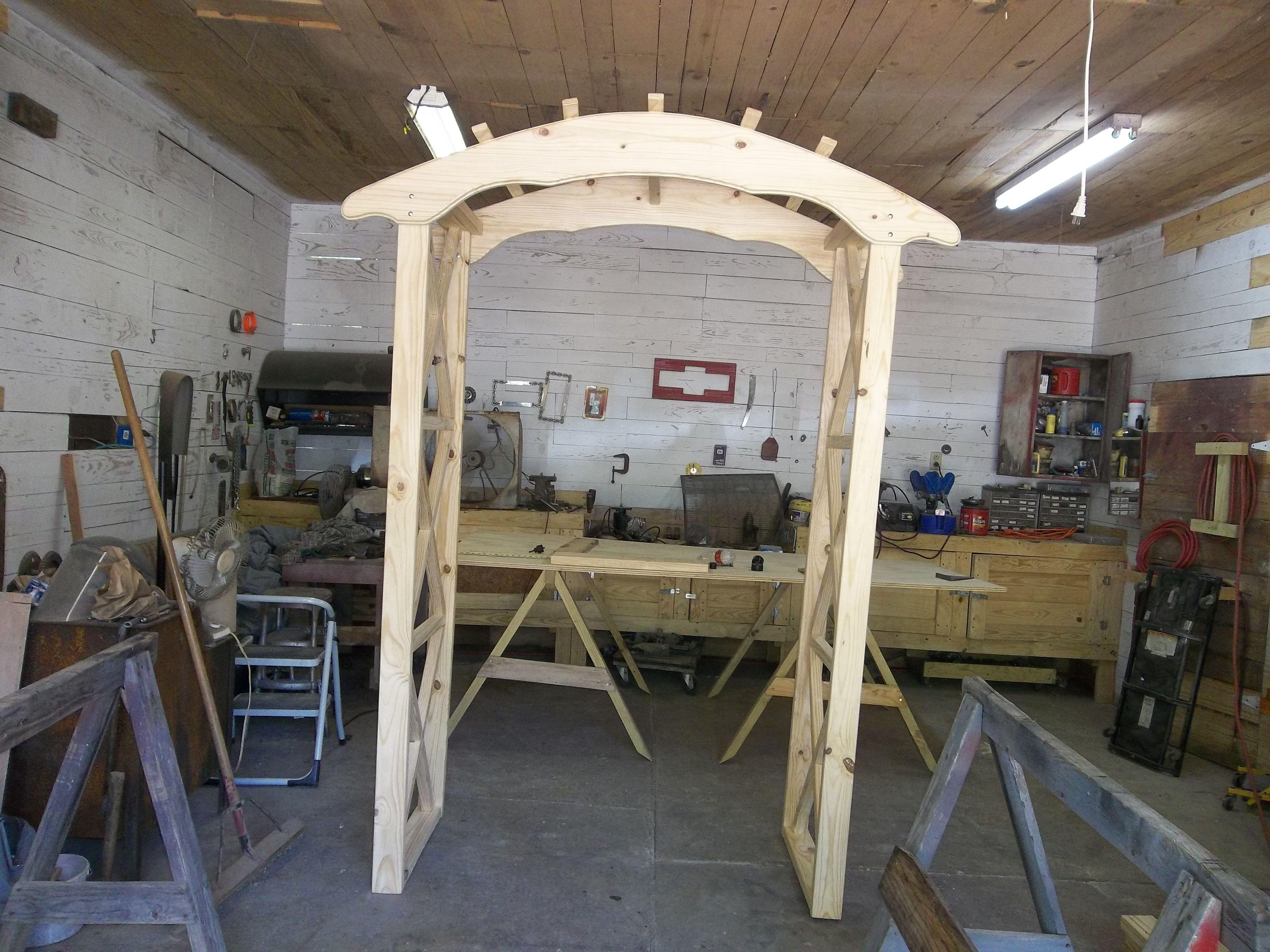 Rustic Wedding Arches Rustic X wedding arch Do It