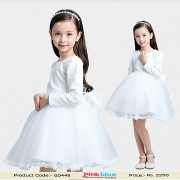 Buy Online The Pretty Designer White Baby Girl First Birthday Outfit In India This Is An Adorable Party Wear Collection For Kids Apparel Weddings