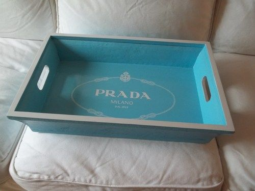 2bab5cb6a74a8 Prada Milano Rope Blue and White Wooden Tray 21 ...