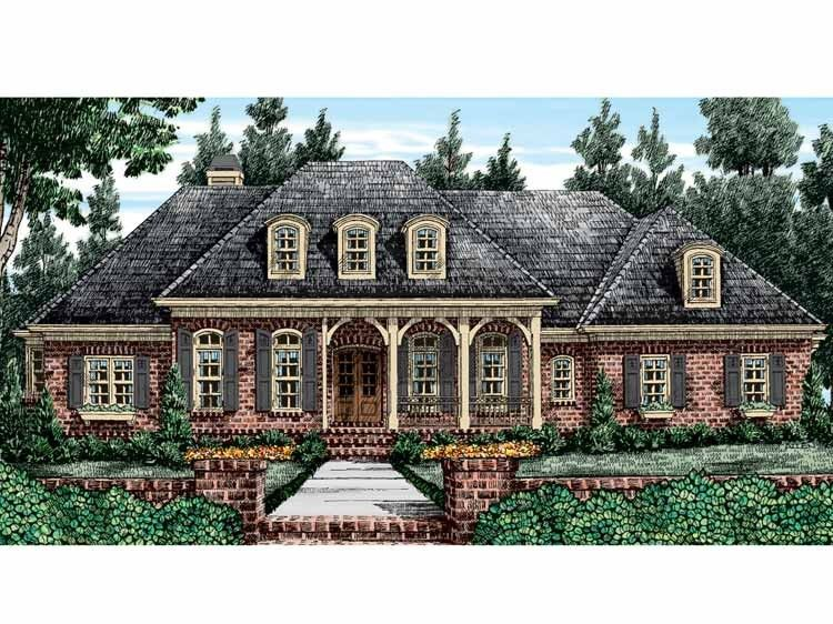 French Country House Plan With 3590 Square Feet And 4 Bedrooms From Dream Home Source House P French Country House French Country House Plans New House Plans