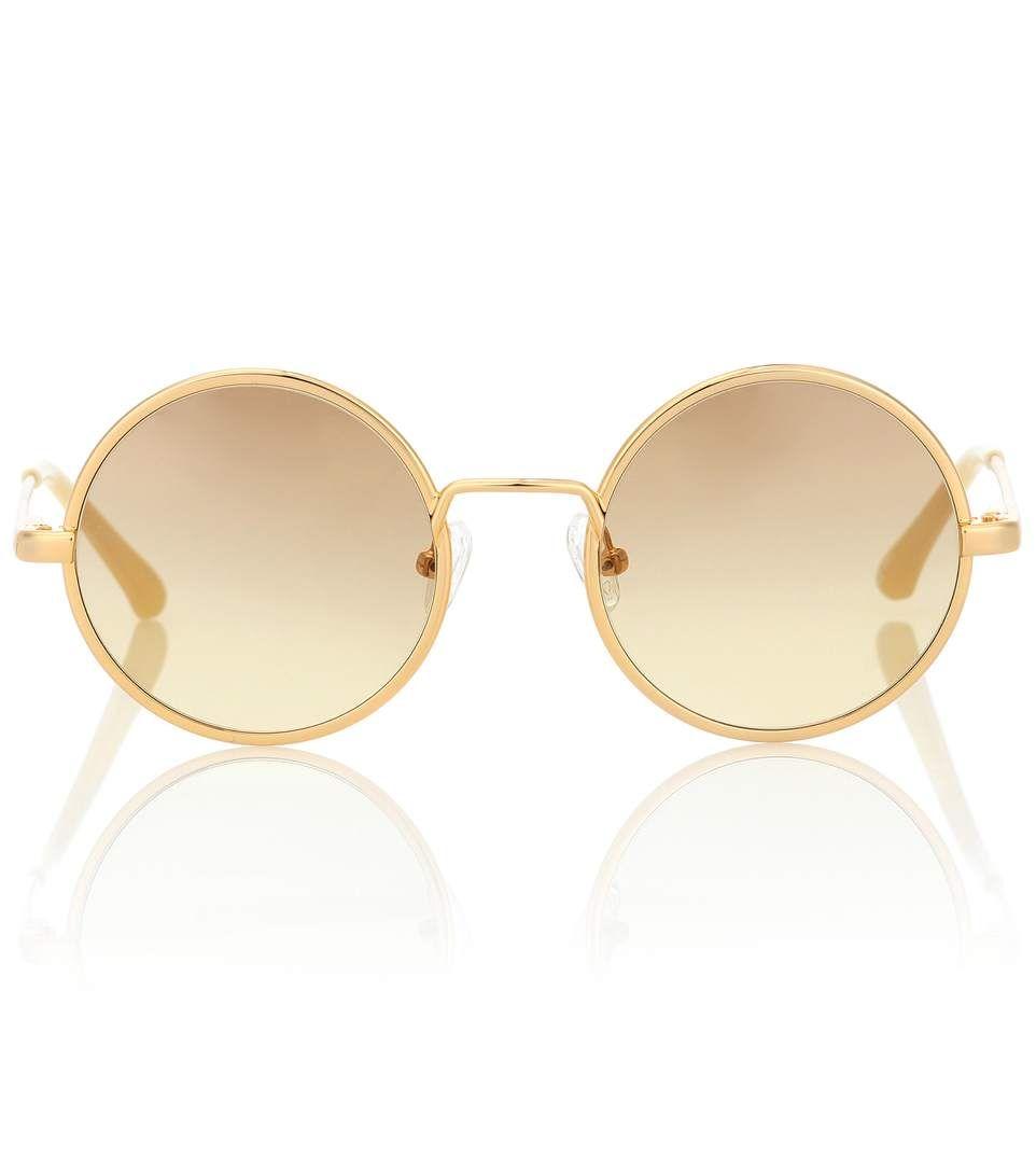 2ef53a84fc0 DRIES VAN NOTEN X Linda Farrow round sunglasses.  driesvannoten ...
