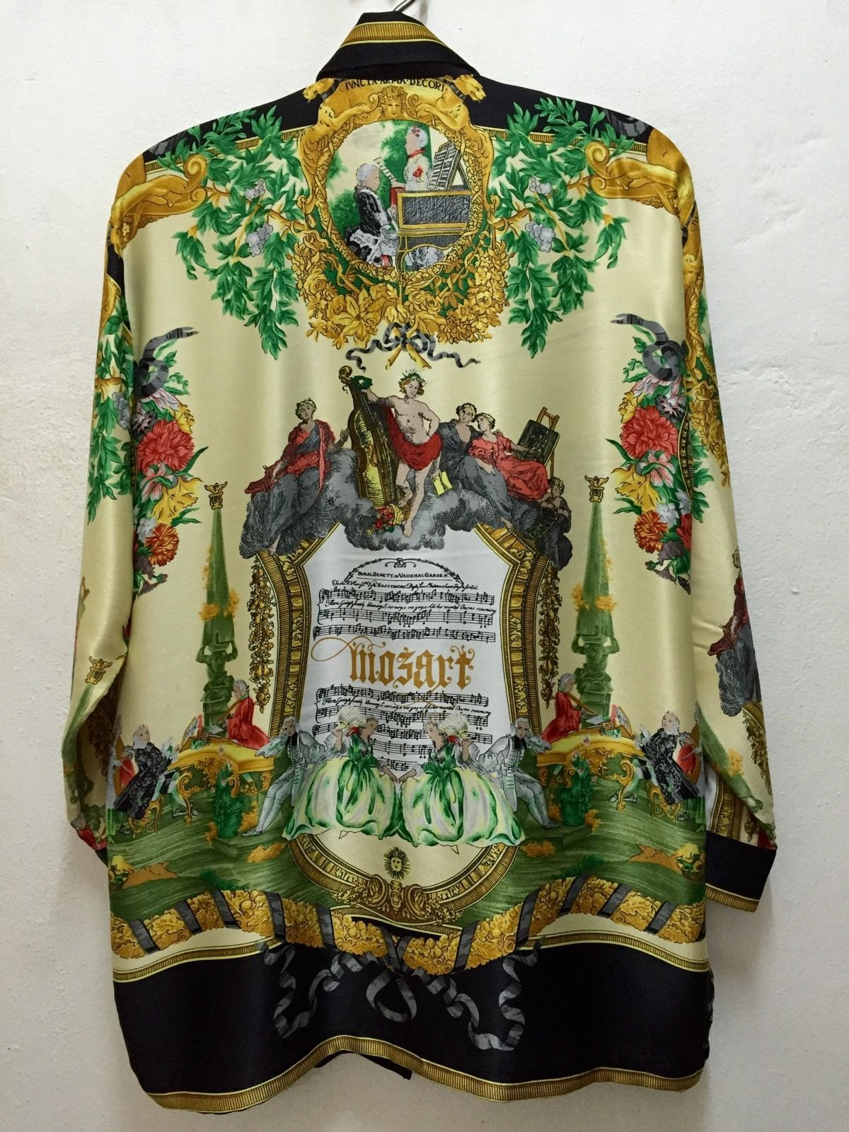 b4173bb3 Gianni Versace Mozart Silk Shirt vintage signature   Costumes ...