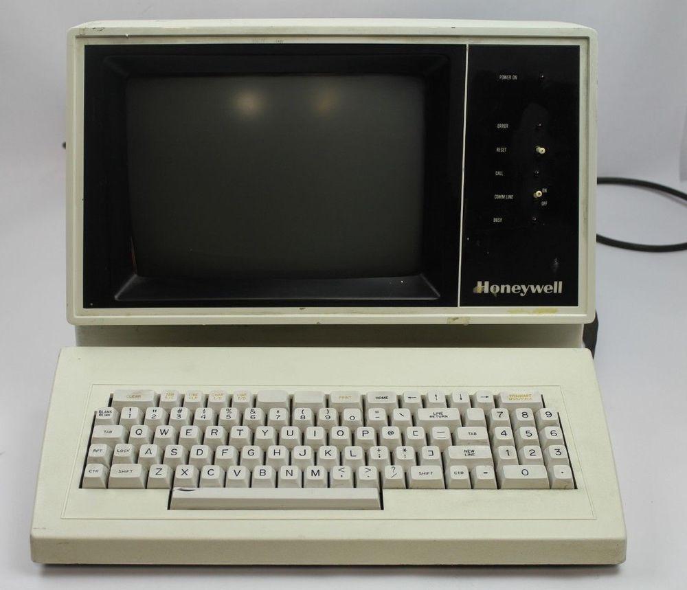 Vintage Honeywell BTRM7760-001 Computer Terminal w/ Keyboard