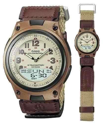 f16e98dedb40 Reloj Casio Telememo Aw 80 Pulso En Velcro Original -   55.000