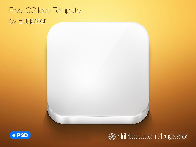 Free iOS Icon Template (PSD) | Ios icon, Icons and Template