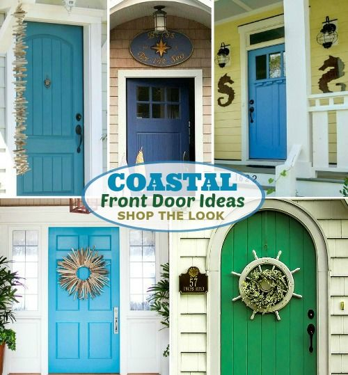 Coastal Nautical Front Door Ideas:  Http://www.completely Coastal.com/2016/05/coastal Nautical Front Door Ideas.html  Shop The Look Of These Welcoming Front ...