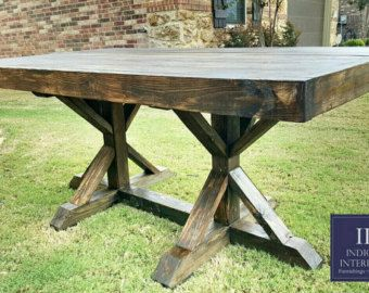 Custom Farmhouse Style 54 In Square Dining Table