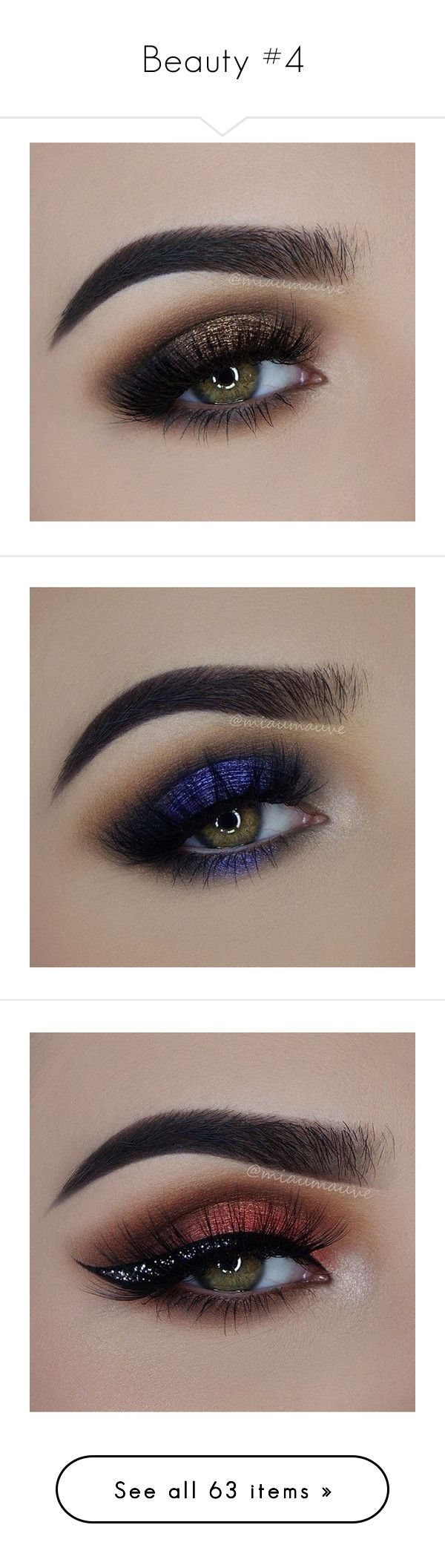 """""""Beauty #4"""" by susannah-biersack ❤ liked on Polyvore featuring makeup, eyes, beauty products, lip makeup, lipstick, lips, beauty, eyeshadow, make and maquiagem"""