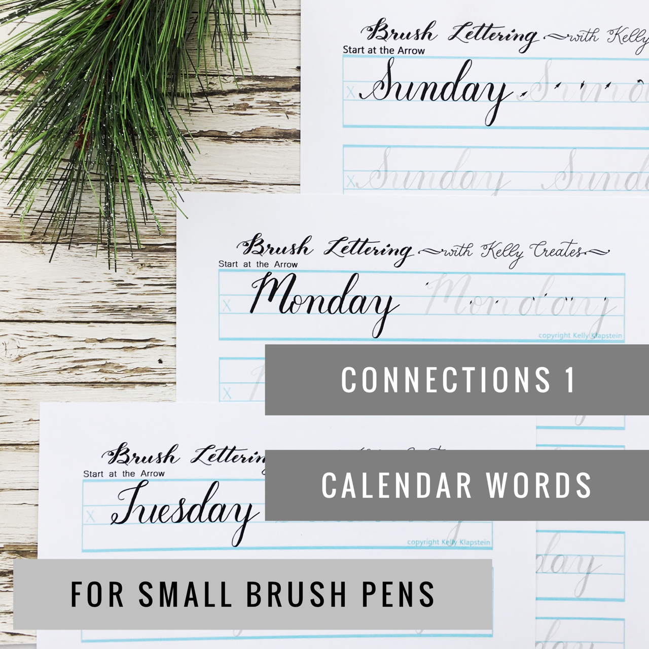 New Connections Worksheets For Small Brush Pens