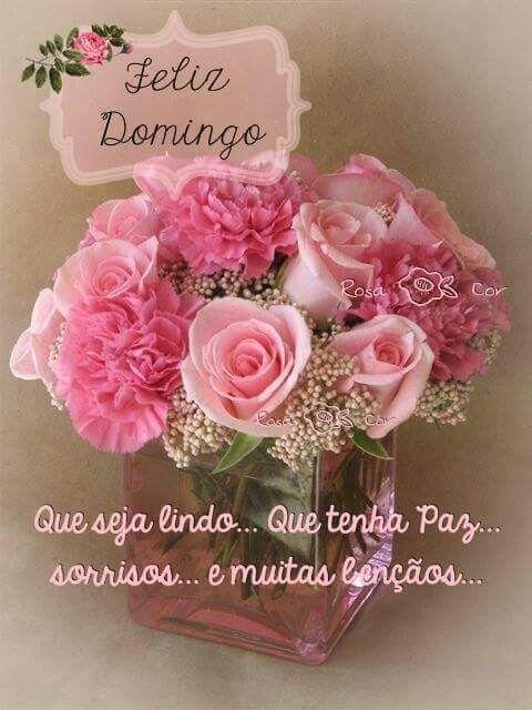 Domingo Cor de Rosa e Branco
