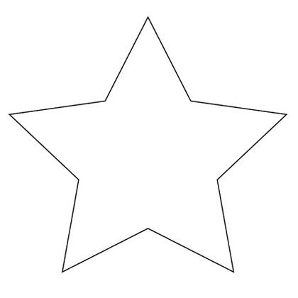 Star shape templates and patterns star template a for Small star template printable free
