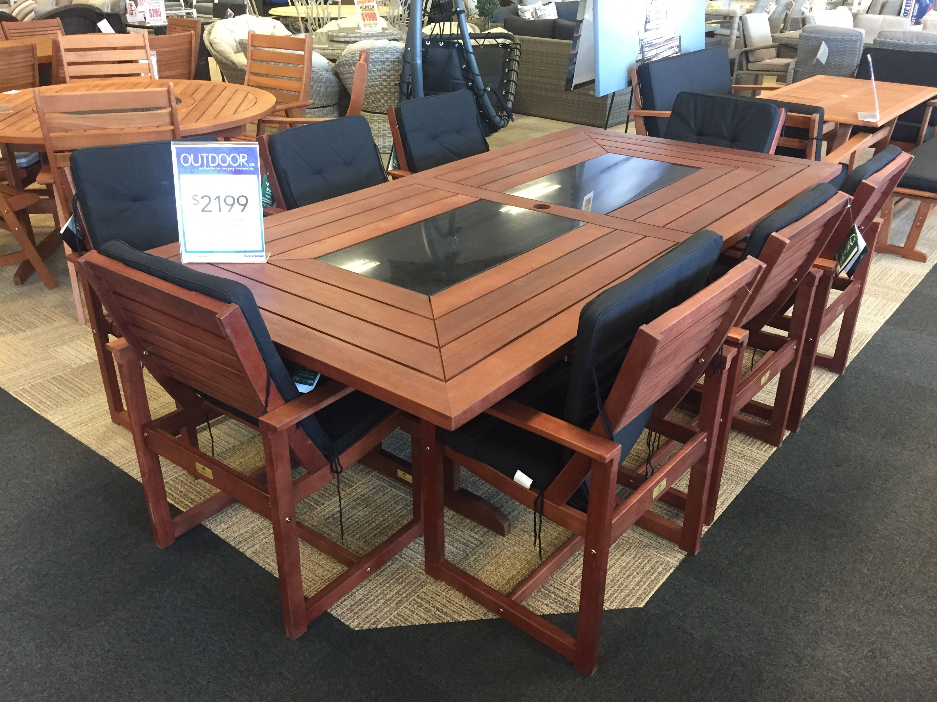 Karri gum 9 pc at Harvey Norman. 2400x1200 | House - Furnishings ...