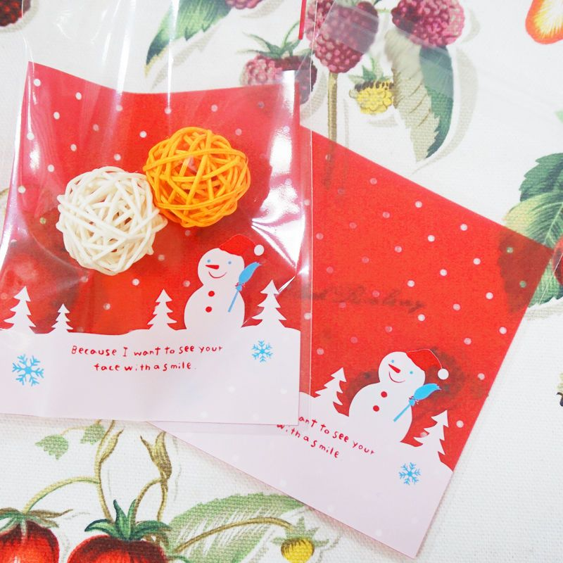 Wholesale! 10pc Christmas Snowman Self-adhesive Bag West Point Bag - wholesale christmas decor