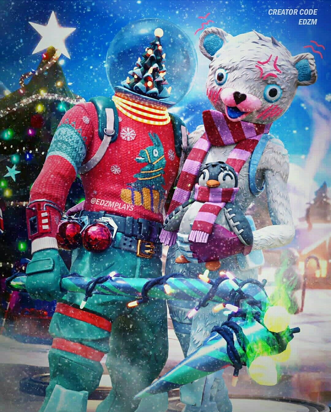 Merry Christmas Fortnite Fortnite Epic Games Fortnite Gaming Wallpapers
