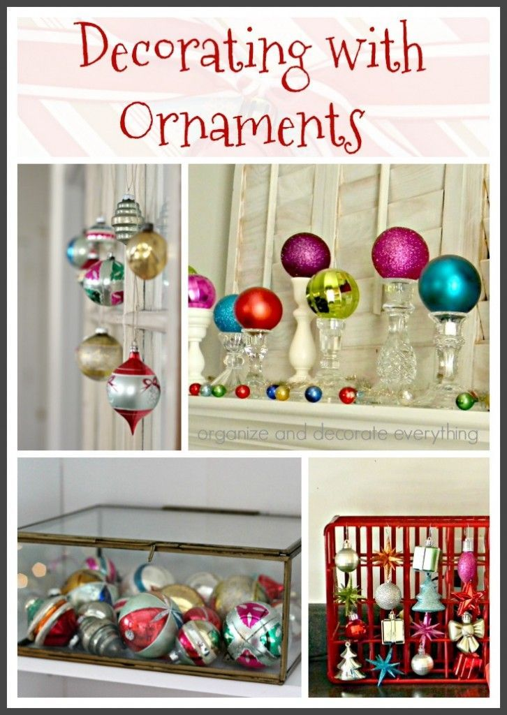 Decorating with ornaments for Christmas