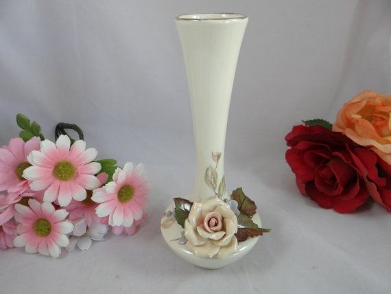 1950s Mid Century Applied Rose Ceramic Hand by SecondWindShop, $12.50
