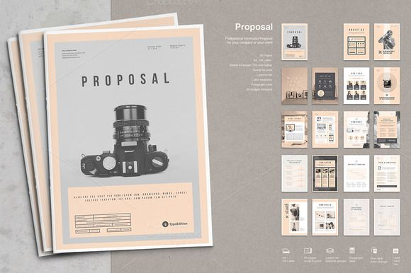 Proposal by TypoEdition on @creativemarket graphic design