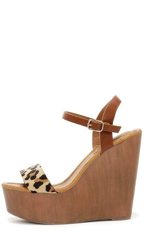 203efaecf63 High Jinks Leopard Platform Wedge Sandals