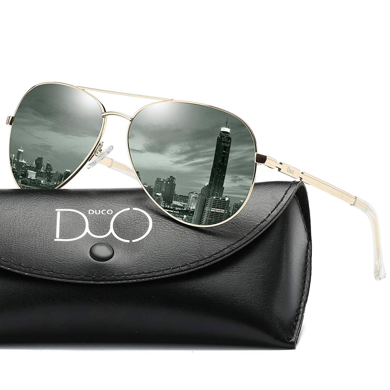 e885eb50456 Bestebuys Hot New Designer Sunglasses Deals  19.99 DUCO Designer Polarized  Sunglasses Vintage Round Sunglasses With Case