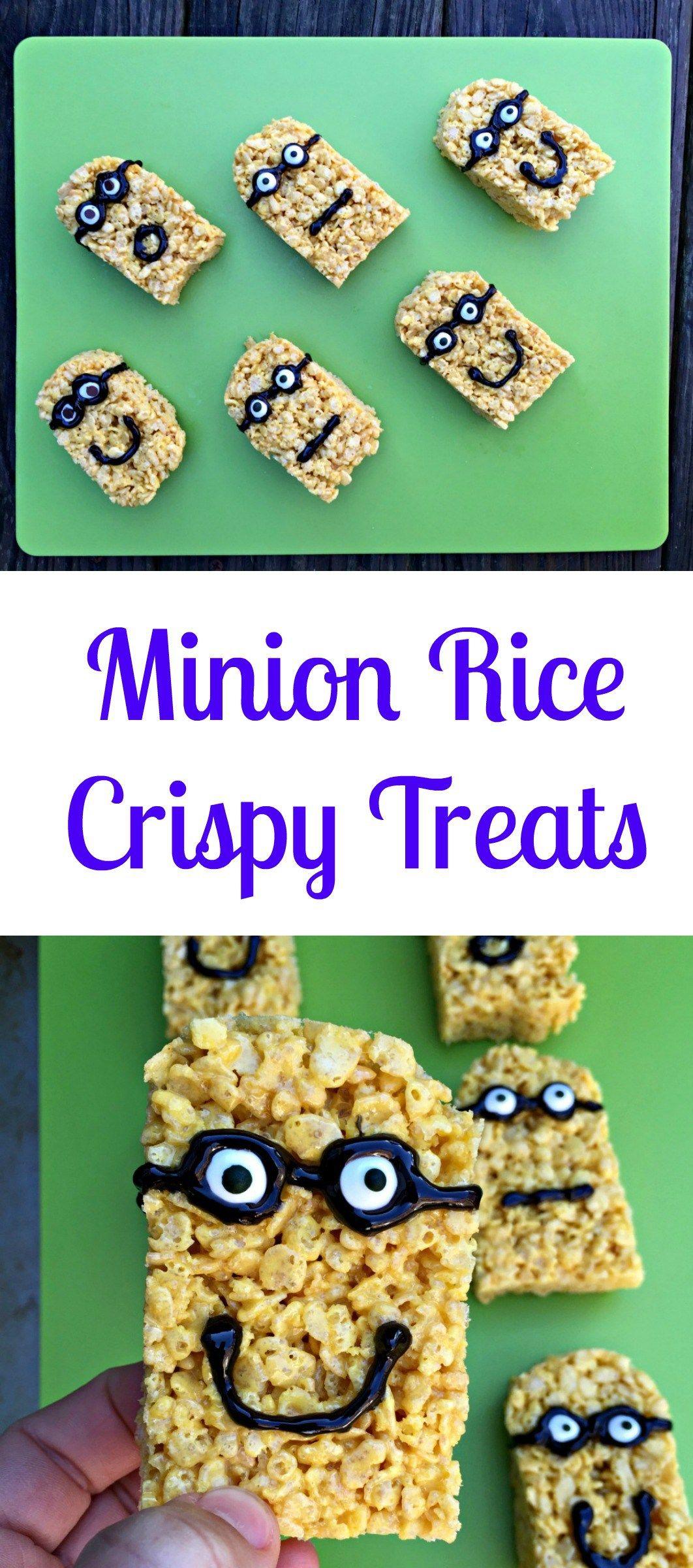 Minions Rice Crispy Treats Movie Night Chocolate Slopes Rice Crispy Treats Crispy Treats Rice Crispy