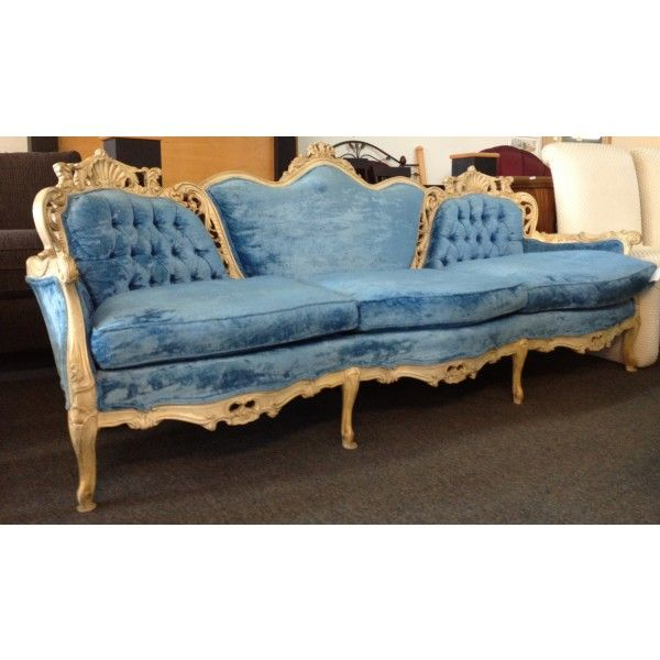 Fantastic Blue French Provincial Sofa 855 00 Chicago Listings Download Free Architecture Designs Fluibritishbridgeorg