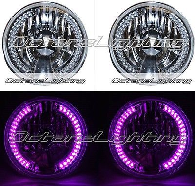 7 Quot Halogen Purple Pink Led Halo Angel Eye Turn Signal