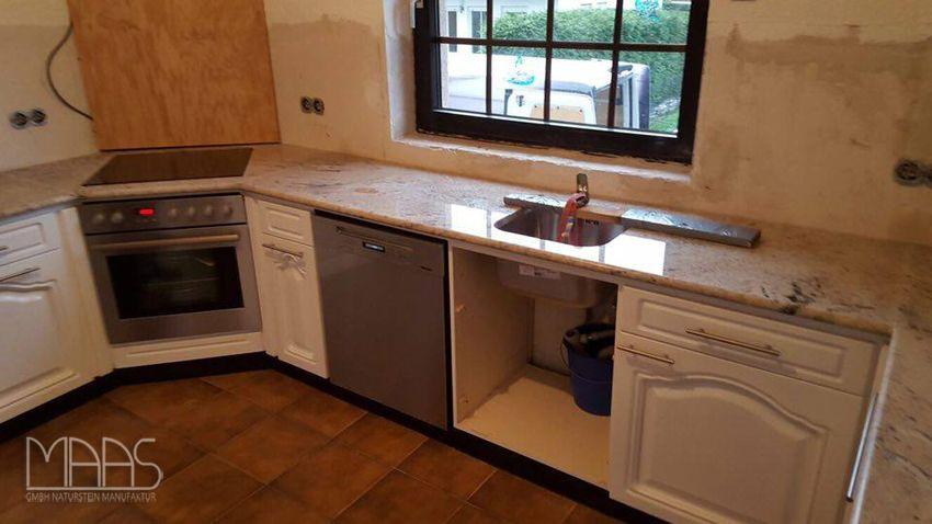 Aufmaß, Lieferung und Montage von noch einer #Granit #Küche - küchen granit arbeitsplatten