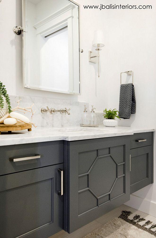 Pin By Redeemedvintage Com On Bathroom Painting Bathroom Cabinets Bathroom Cabinet Colors Grey Bathroom Vanity