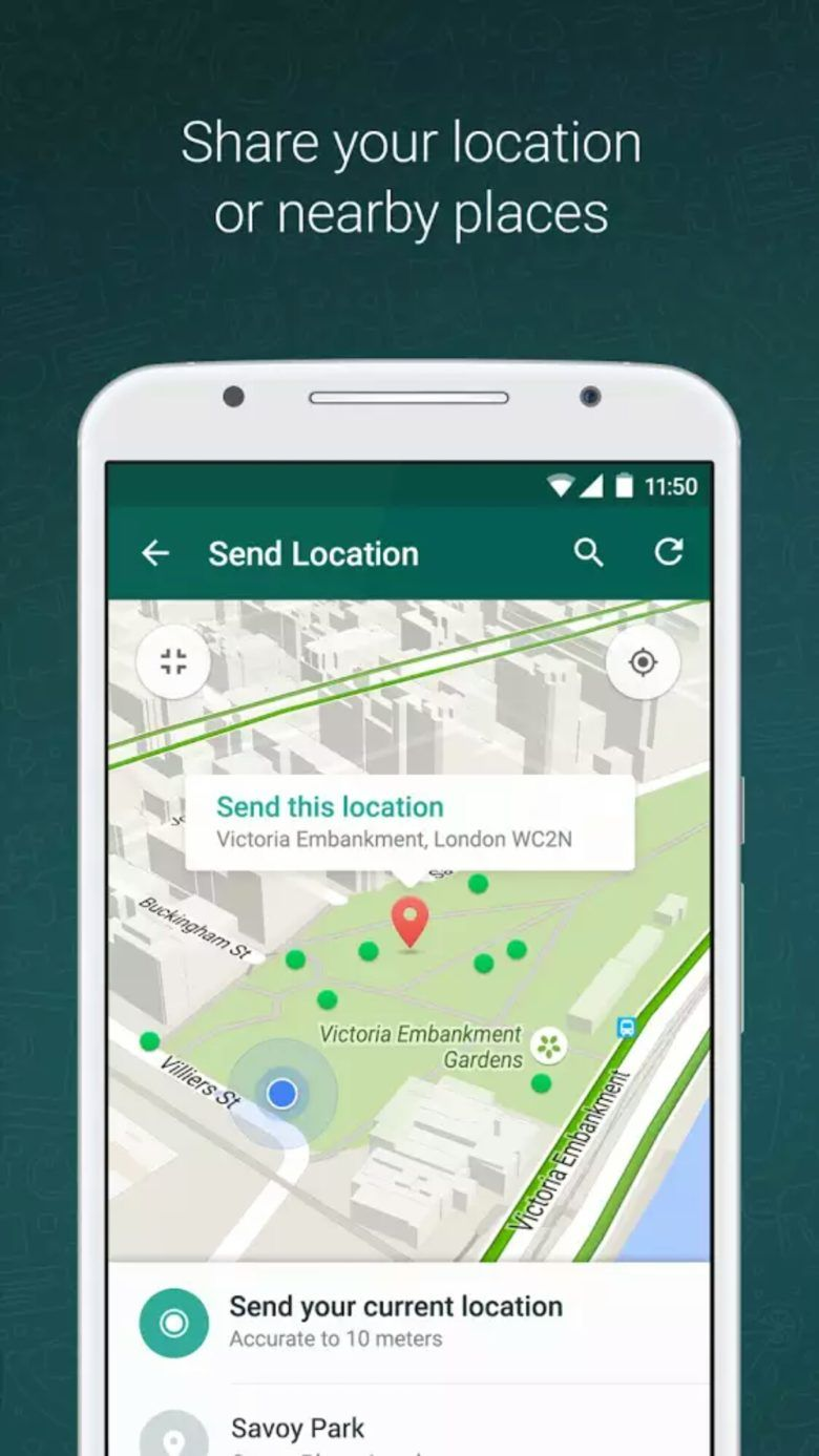 How To Share Your Location With Friends On Whatsapp 2017 With