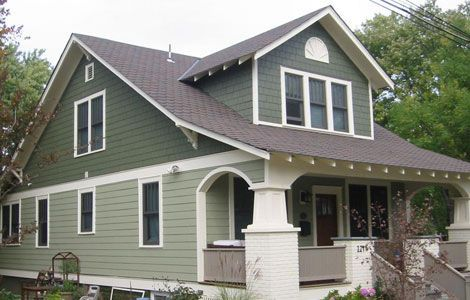 Image Result For Monterey Taupe And Mountain Sage Hardie Siding With Images Green House Siding Siding Colors For Houses Bungalow Exterior
