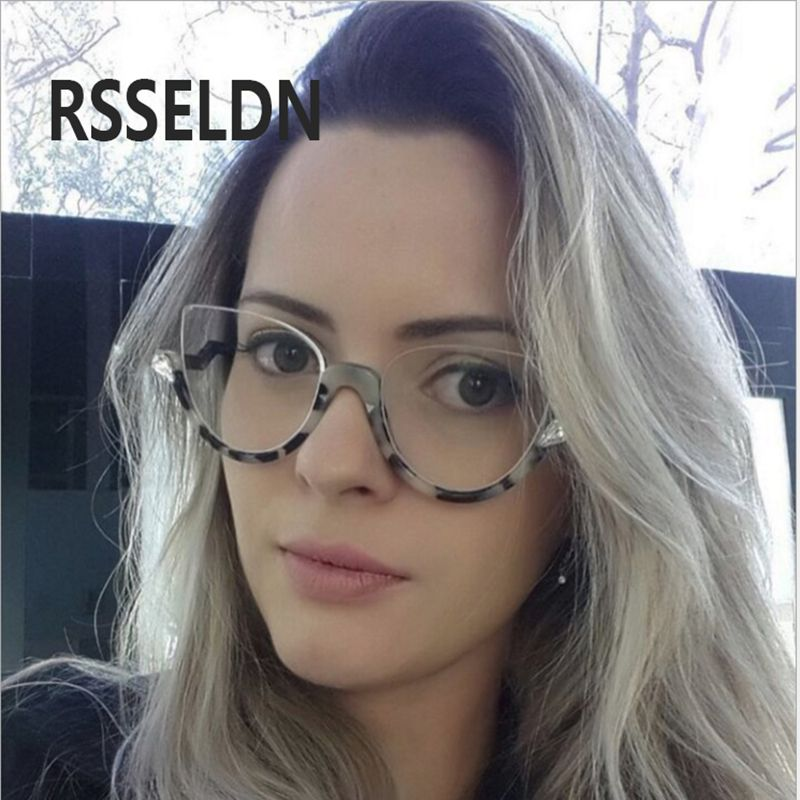 1800249333 RSSELDN 2017 Newest Fashion Trend Cat Eye Eyewear Frame High Quality Women Optical  Eyeglasses Computer Glasses Spectacle Frame