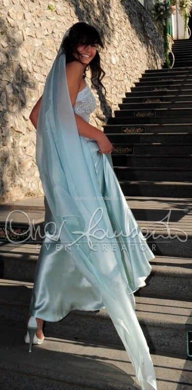 ad6ddfc444f07 Ice Blue wedding gown by Anna Guerrini