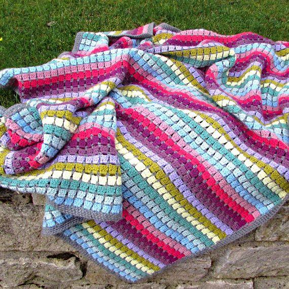 Vintage Rainbow Crochet Blanket Pattern Whip Up A Beautiful Crochet Thro Rainbow Crochet Blanket Pattern Crochet For Beginners Blanket Crochet Blanket Rainbow