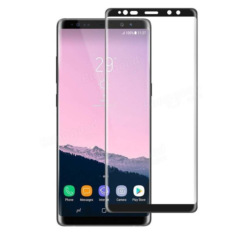 Us 7 99 3d Curved 9h Tempered Glass Screen Protector For Samsung Galaxy Note 8 Samsung Accessories From Mobile Phones Accessories On Banggood Com