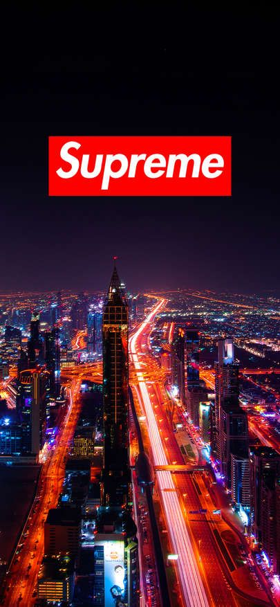 Free Download Wallpaper Iphone XS XR XS MAX Supreme Wallpaper Dubai night view 1125 × 2436