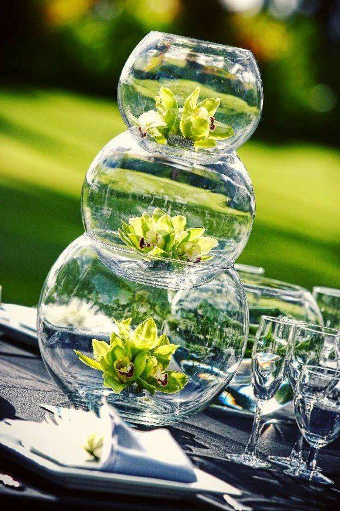 le grand vase en verre dans 46 belles photos mariage pinterest. Black Bedroom Furniture Sets. Home Design Ideas