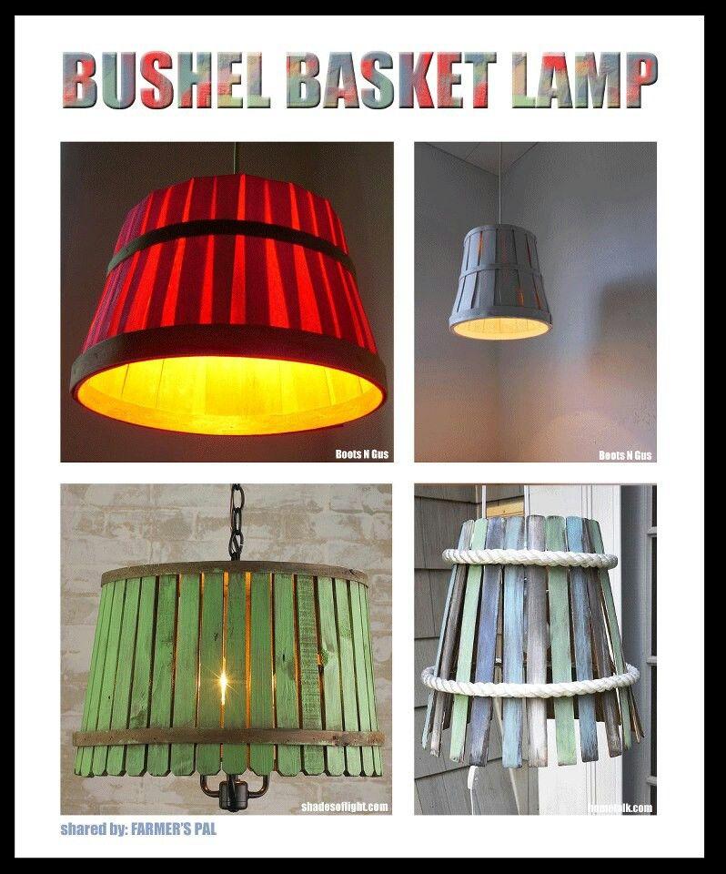 Bushel Basket Lamp Shade