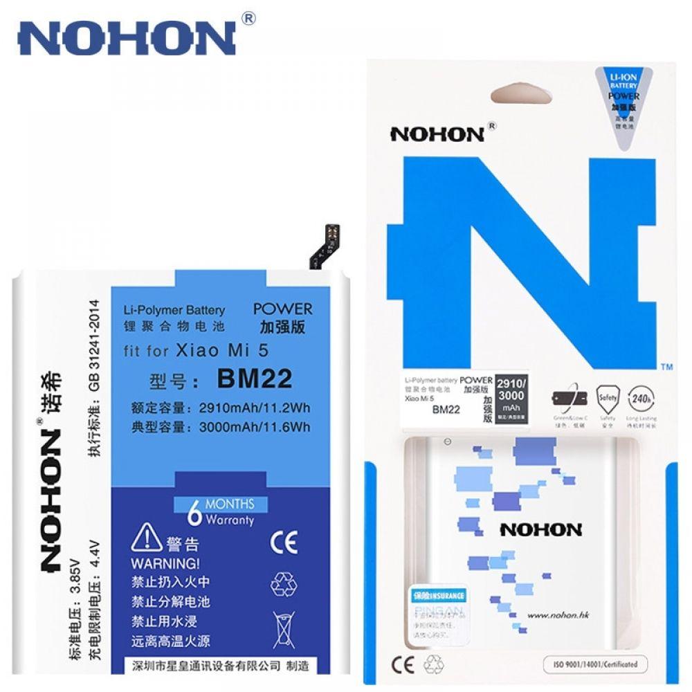 Original Nohon Bm22 Battery For Xiaomi Mi5 Mi 5 High Capacity