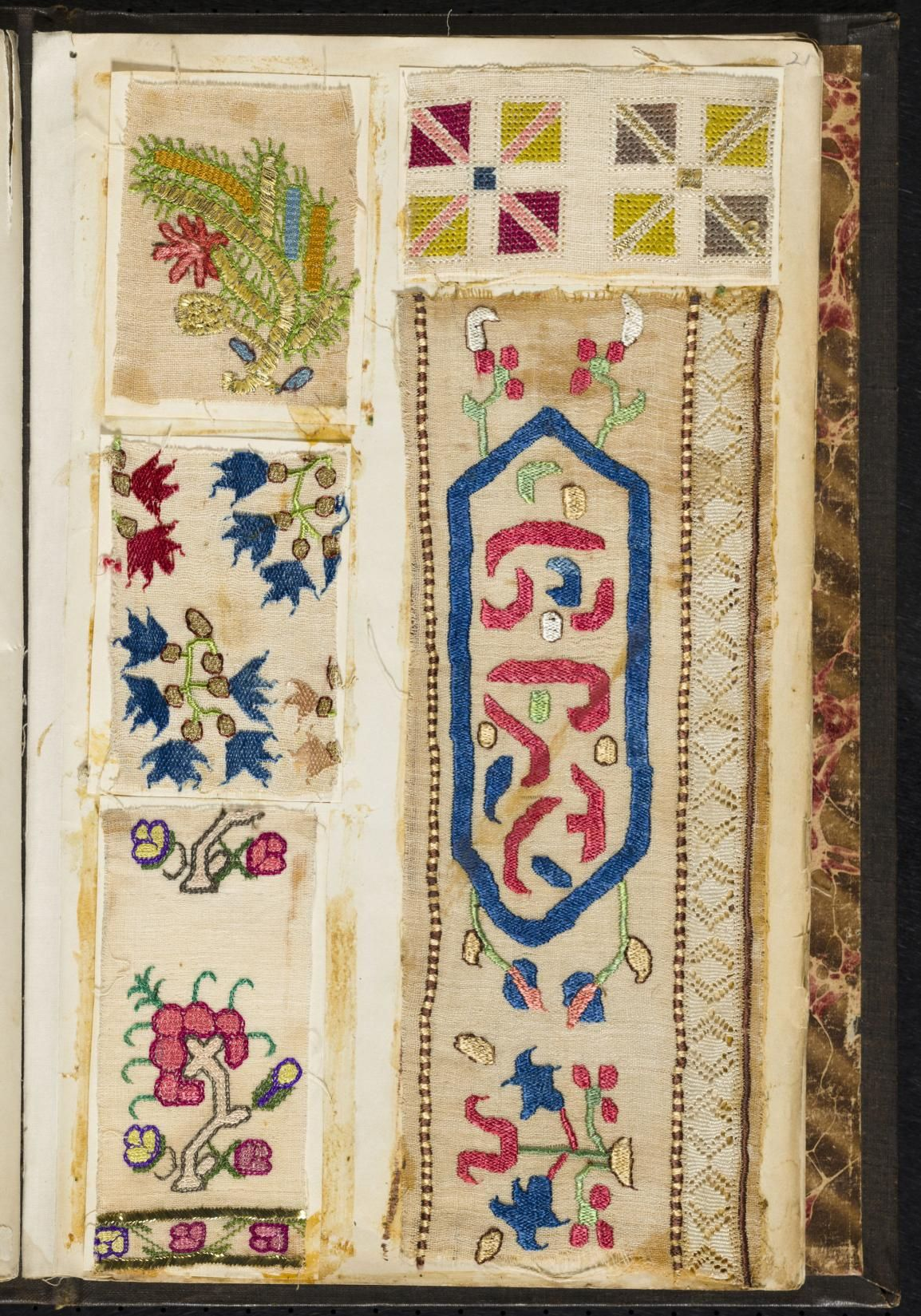 Embroidery sample book in punta d ago pinterest