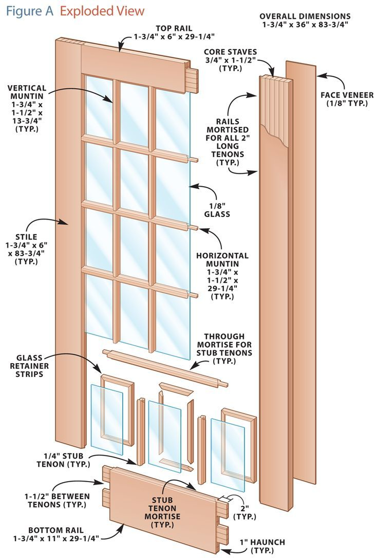 Build your own french doors woodworking projects for Planos de carpinteria