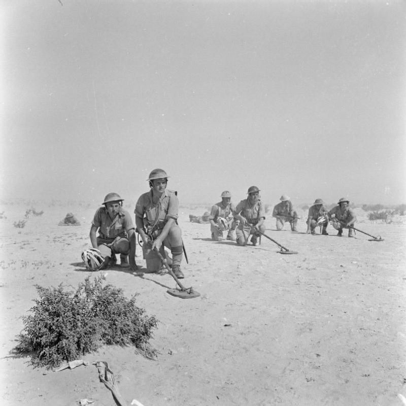 Image result for ww2 north africa minefield