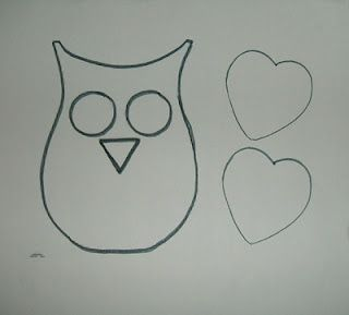 Best Photos Of Owl Template Printable Heart Pattern Valentine Owl