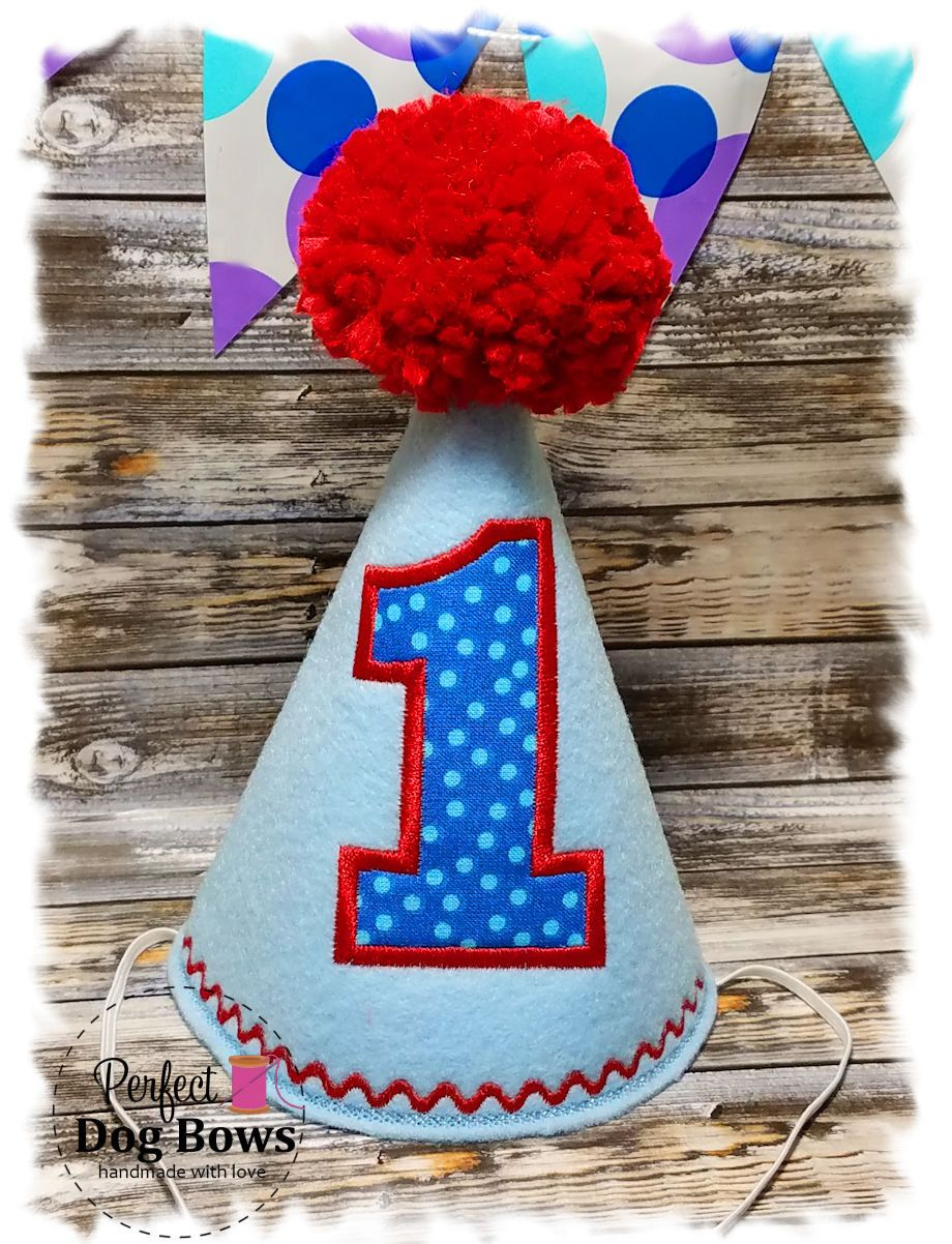 Dog Birthday Hat Party For Dogs Boy First 1st Embroidered By Perfectdogbows On Etsy
